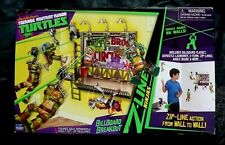 NICKOLODEON TEENAGE MUTANT NINJA TURTLES BILL BOARD BREAKOUT ZIP LINE PLAY SET