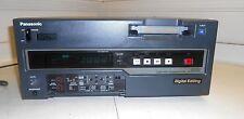 Panasonic AJ-D650 DVCPRO Studio Editing VCR. SDI optional. Plays DVCPro & DVCAM