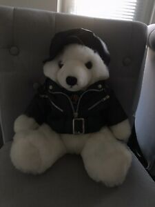 Hard Rock Hotel The Joint Las Vegas Official Soft Toy Plush Teddy Leather Jacket