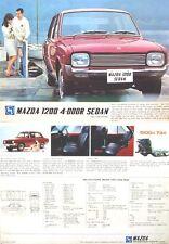 Mazda 1200 Familia Saloon 1969-71 Original UK Sales Brochure Pub. No. A46907N