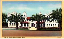 McALLEN, TX Texas      CASA de PALMAS HOTEL     c1940s  Linen Roadside  Postcard