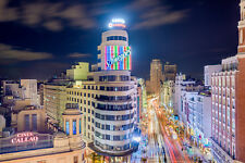 BEAUTIFUL MADRID CITY CANVAS PICTURE #540 STUNNING SPAIN CITYSCAPE A1 CANVAS