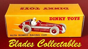 DINKY TOY 232 (23F) QUALITY REPRO BOX ALFA ROMEO RACING CAR Blades Collectables