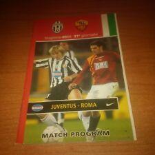 MATCH PROGRAM JUVENTUS FOOTBALL CLUB - ROMA  SERIE A 2005/06 31 GIORNATA