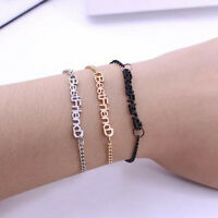 "Charm Gifts ""Best Friend"" Letters Bangle Bracelet For Women Ladies"