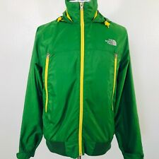 The North Face Mens M Windbreaker Bomber Jacket Coat Green Yellow EUC