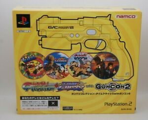 PS2 GUNVARI COLLECTION + TIME CRISIS with GUNCON 2 w/ BOX Japan import Rare
