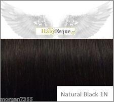 """Halo Esque Secret Wire Remy Hair Extensions Premium 200g Thick Black 20"""""""