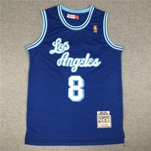 New Kobe Bryant Los Angeles Lakers Swingman Throwback Jersey Blue Size S-XXL