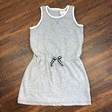 Hanna Andersson 120 Heathered Gray White Sweatshirt Cotton Sleeveless 6-7 Dress