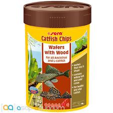 Sera Catfish Chips Fish Food 1.3oz Wafers with Wood 100mL Fast Free USA Shipping