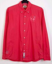 LA MARTINA Mens XL Shirt Formal Cotton Casual Long Sleeved Pink Work Office Top