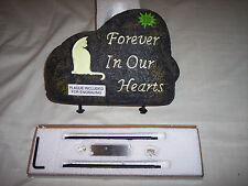 NEW Pet Memorial GLOW IN THE DARK Monument Cemetery Grave Stone,Cat