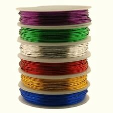 Couloured Metal Craft Jewellry Wire 6x 12 Metre Reels