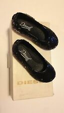 Diesel dress flats black girls toddler size 5 M New in box