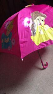 Disney 5 Princesses Pink Girls Umbrella