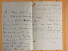 1899 Signed Letter SIR ALFRED GASELEE KCB Boxer Rebellion*India*Afghanistan+++