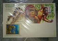 Royal Selangor Pewter Niobium Stamp FDC Protected mammals Utan Mamalia