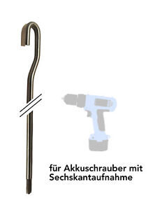 Markisenkurbel für Akkuschrauber - elektrisch elektromechanisch Markise
