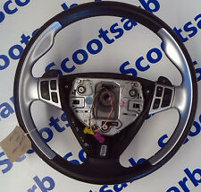 SAAB 9-5 95 Aero Sport Black Silver Chrome Steering Wheel 2006 - 2008 12758902