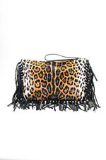 Valentino Garavani женские ponyhair бахрома C-rockee сцепления сумка черный коричневый