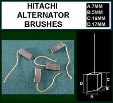 2 x 12 Volt Alternatore Spazzole PLUS saldatura per alcune unità Nissan Isuzu Hitachi