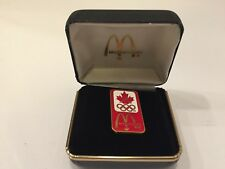 Vintage McDonald's Canada Olympic Team Pin with Hard Shell Box
