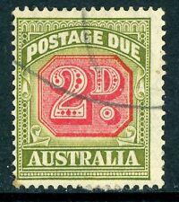 Australia 1946 Due 2d Carmine & Olive Green Perf 14½x14 SG D121 FU Z553