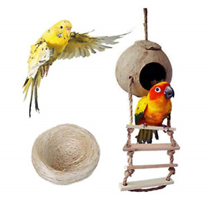 Bird Nest for Parakeets Naturals Coco Parrot Breeding Box Lovebird House Cage