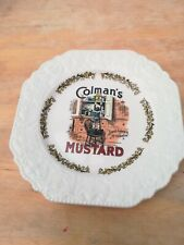 Colman's Mustard Lord Nelson Pottery Ware Vintage Victorian Advertising Plate Ci