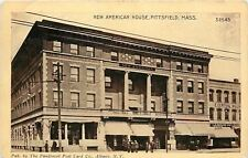 Pittsfield Massachusetts~New American House~North Street~Central Billiards~1910