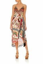 new CAMILLA FRANKS SILK SWAROVSKI VINTAGE VIXEN WRAP DRESS L layby avail