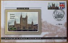 2009 Ltd Ed Benham Error Cover - GWR  Bristol Temple Meads