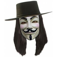 V for Vendetta Wig Adult Mens Black Halloween Costume Accessory