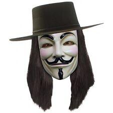 V for Vendetta Wig Adult Mens Black Halloween Costume Accessory