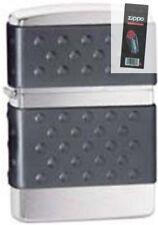 Zippo 200zp zip guard brushed chrome Lighter + FLINT PACK