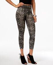 c02465db1f83e2 First Looks Women Leggings Sz M/L Ikat Cheetach Seamless Skimmer Leggings