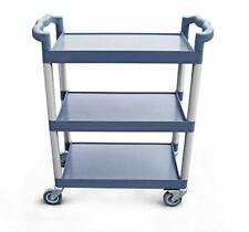 New listing 54569 350-Pound Plastic 3-Tier Utility Bus Cart with Locking Casters, 42.5