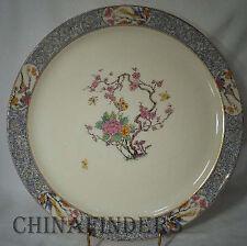 "LENOX china MING BIRD P16 black stamp Chop Plate/Round Platter 12 1/2"" with chip"