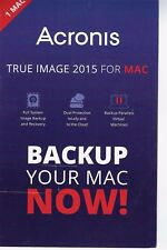 New, Acronis True Image 2015 for Mac - 1 Mac - Product Key Card