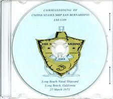 USS San Bernardino LST 1189 Commissioning Program 1971 U S Navy Plank Owners
