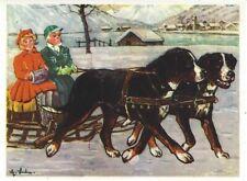Rare 1952 Austria Art Print Body Dog Greater Swiss Mountain Dog