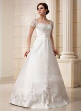 Gorgeous Ivory  Wedding Dress With Embroidery.  Size 18 W. Long sleeves.