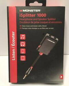 Monster iSplitter 1000 Headphone And Speaker Splitter NEW