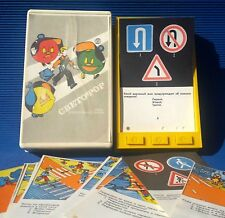 1982 USSR Russian Soviet Toy Game ELECTRICAL QUIZ «TRAFFIC LIGHT» with Cards