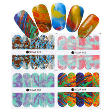 4 Sheets Nail Water Decals Gradient Marble Nail Art Transfer Stickers UR SUGAR