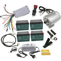 48V 1800W Brushless Electric Motor 3 Speed Controller Battery Kit E-Bike Scooter