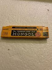 Vtg MONGOL 482 No F Firm pencils Eberhard Faber Diamond Star unused w/box Qty 12