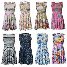 Casual Floral Plus Size Sleeveless Dresses for Women