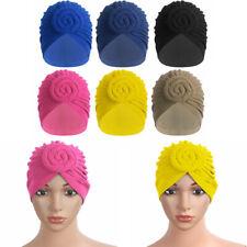 USA Cotton Turban Headwrap Knotted Bonnet Beanie Headwear Chemo Hair Loss Hat